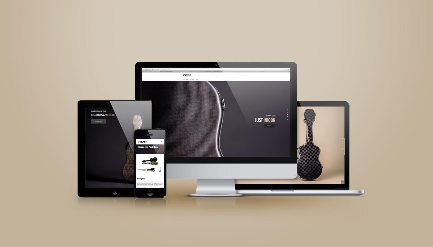In-Icon, website istituzionale responsive. Il sito inicon è completo di vetrina, newsletter, ed E-commerce.