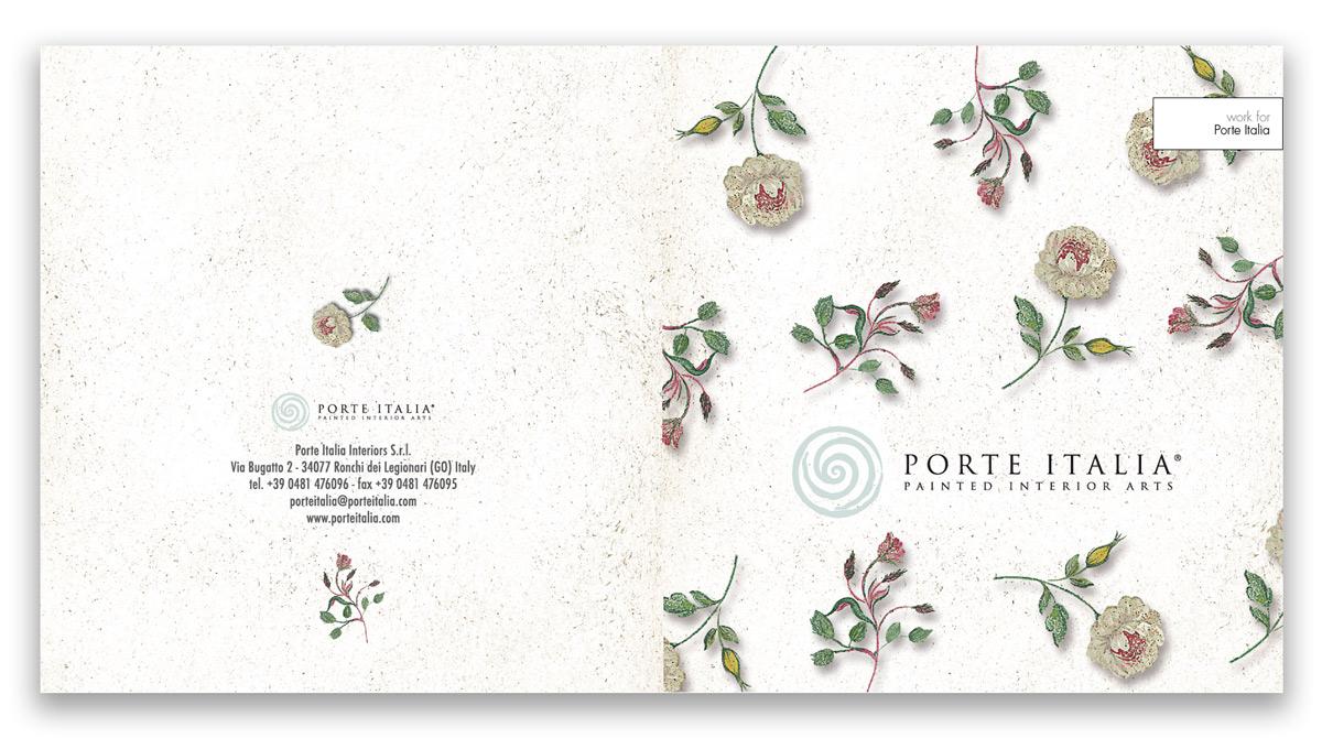 Brochure per l'azienda di arredamento Porte Italia ideata e realizzata da 360Creativity